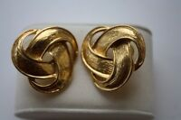 LARGE GOLD COLOURED PIERCED EARRINGS