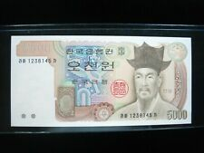 Korea South 5000 Won 1983 P48 Korean Unc 45# Bank Currency Banknote Money