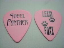STEEL PANTHER Guitar Pick pink with black printing LEXXI FOXX 2011 Tour