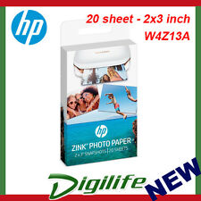 HP Zink Sticky Backed Photo Paper 20 Sheet - 2x3 Inch 1PF35A for Sprocket W4z13a