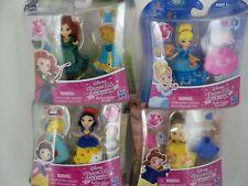 Disney Princess Little Kingdom Fashion Change Snap-Ins Lot 4 Dolls NEW