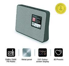 Office DAB/DAB+ Digital & FM Radio, Portable Wireless, AUX, Metal Grill -Silver