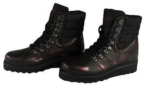 YELLOW CAB Damen Stiefeletten Y28116 Stiefel Boots Bordeaux Schnürstiefel