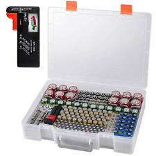 Battery Organizer Box Case Holds 225 Batteries with Tester Bt-168 Garage Organiz
