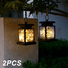 2Pack Solar Star Hanging Led Lantern Lights Outdoor Garden Decor Lamp Waterproof