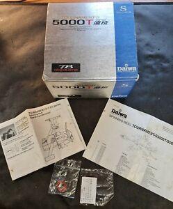 Dawia Tournament S 5000T Fishing Reel Box Rare Good Condition BOX ONLY