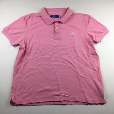Adidas Small Logo Bubblegum Pink Polo Shirt Size L Fits M