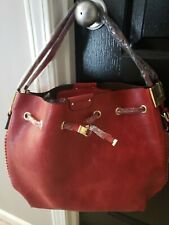 Empire Red Tote Handbag With Matching Cosmetic Case
