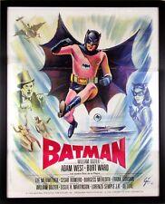 Rare Authentic 1966 BATMAN France Adam West 20th Century Fox Movie Poster Framed