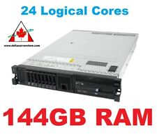 24 Logical Cores IBM M3 Server 2x HEX Core Xeon X5670 6 Core 2.93Ghz, 144GB RAM