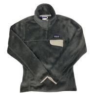 PATAGONIA Women's Gray Synchilla Retool Snap Fleece Pullover Sweater Size XXS