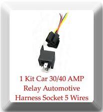 1 Kit Car 30/40 AMP Relay Automotive Harness Socket 5 Wires SPDT 5 Pin DC 12V