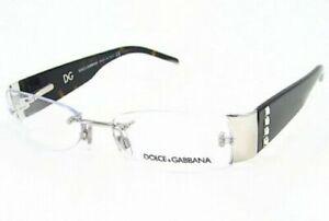 New DOLCE & GABBANA DG1151-B 061 53mm Black Rimless Eyeglasses RX Frames Italy