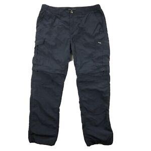 Columbia Silver Ridge Convertible Zip Off Pants Mens 36x32 Blue Nylon Cargo