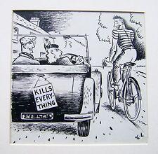 Illustrateurs motoring motor magazine cycliste devancent voiture george lane encre 1940s