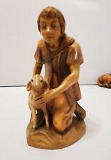 Anri Bernardi nativity Shepherd boy and lamb
