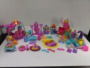 My Little Pony Lot Helicopter + Parade Cars,  furniture, vanity, bathtub tea set
