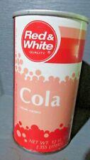 RED & WHITE COLA WIDE SEAM STEEL SODA CAN     -[READ DESCRIPTION]-