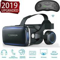3D VR BOX SHINECON 6.0 Virtual Reality Glasses Headset Movie Bluetooth Quality