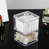 Two-Layer Makeup Holder Cotton Pad Container Cosmetic Organizer Storage C_QA