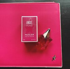 BRAND NEW 100% GENUINE MUGLER ANGEL NOVA POUCH + 5ML MINIATURE PERFUME BOTTLE