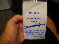 West-Chester #Da2846 Disposable Aprons Polyethlene White 28x46 2 boxes of 100