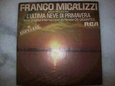 "7"" Single 45 P/S - L'ULTIMA NEVE DI PRIMAVERA - FRANCO MICALIZZI - 1979 - BRAZIL"