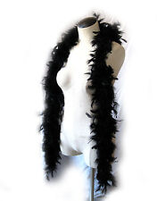 Deluxe Black Feather Boa Sexy Witch Feathered Adult Costume Accessory 6'