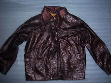 Genuine Leather Kids Jacket Girls Dark Brown Lambskin Leather Biker Jacket New