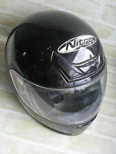 NITRO RACING N311-V  Black Helmet For Motorcycle. Fit Size M