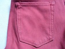 JOES JEANS THE SKINNY WOMENS RUBY RED STRETCH LEGGING JEAN PANTS SIZE 27 USED