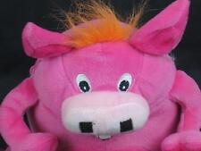 SASCO CRAZY PIG kellogs cereal EET ERN RARE PINK PRIZE  PLUSH STUFFED ANIMAL TOY