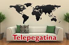 VINILO DECORATIVO PARED MAPA MUNDIAL 140x60 MAPAMUNDI WORLD MAP WALL STICKER
