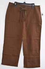 LIZ CLAIBORNE Women's Brown Cropped Capri Pants. Sz 6 light weight