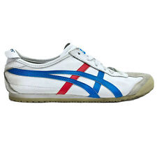 Onitsuka Tiger 'Mexico 66' Men's Size 7 Sneaker White Blue Red Leather DL408