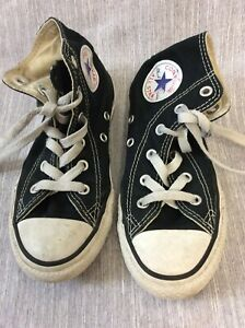 Converse Chuck Taylor All Star High top Sneakers Black youth 13 US 12.5 UK 31EU