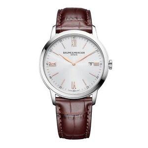 Baume & Mercier BM0A10415 Classima Silver Tone Dial Wristwatch