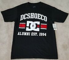 NWT DC Shoe Co Black T-Shirt Top Tee Men's Small Alumni 1994 Dyrdek Quiksilver