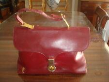 Unique Vintage Roberta di Camerino Burgundy Leather Purse Handbag VGVC