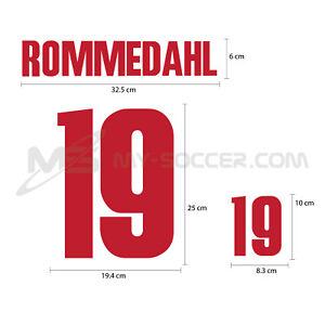 Denmark Away World Cup 2002 PU Football SOCCER NAME NUMBER PRINT