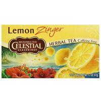 Celestial Seasonings Lemon Zinger Caffeine Free Natural Herb Tea 20 ea (2 pack)