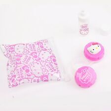 Sanrio Cute Hello Kitty Character Contact Lens Cases Set for Travel Portable