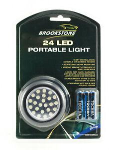 24 LED Portable Light Ideal for Cars Caravans Camping Hook & Magnet & Batteries