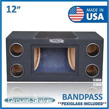 "12"" Dual Bandpass Sub Box / Dual 12"" ported subwoofer enclosure box 12"" sub box"