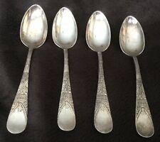 Antique Lorne Pattern set of four Demitasse Spoons c. 1878