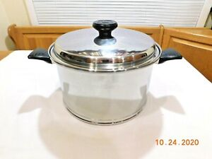 LIFETIME WEST BEND 12 QT STOCK POT 12 ELEMENT SOLAR CAP T304 STAINLESS STEEL