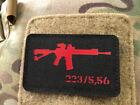 AR-15 223/5,56 Lasercut Patch, black red, Cordura LasercutUniformen & Effekten - 28723