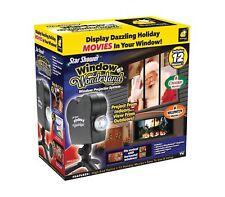 star shower window wonderland projector 12 holiday movies christmas halloween