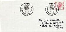 R63 enveloppe thème CHIEN oblitération Ste Rle St HUBERT BRUXELLES 18 juin 1982