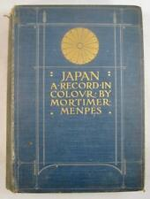 Japan A Record In Colour Antique Book 1903 Mortimer Menpes Adam Charles Black O